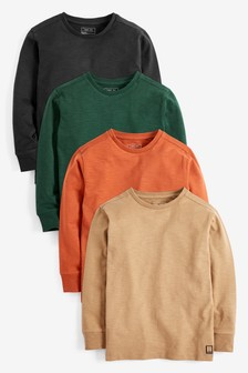 4 Pack Soft Long Sleeve T-Shirts (3-16yrs)