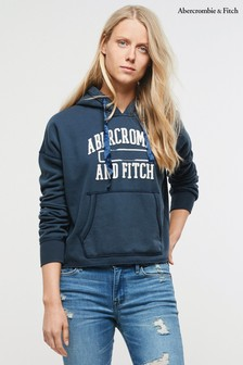 Abercrombie & Fitch Navy Cropped Hoody