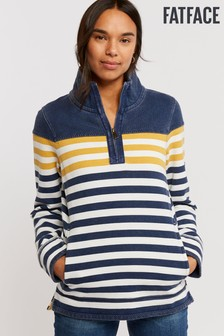 FatFace Yellow Airlie Stripe Sweat