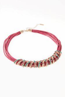 Sparkle Wrap Cord Necklace