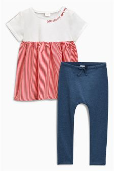 Stripe Leggings Set (3mths-6yrs)