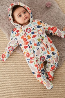 Woodland Print All-In-One (0mths-2yrs)