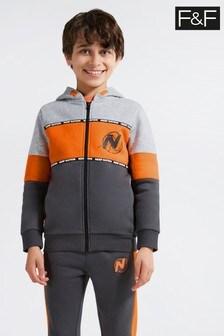 F&F Orange Nerf Zip Through Top