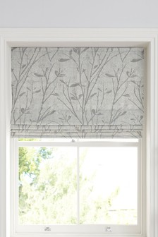 Frosted Sprigs Jacquard Roman Blind