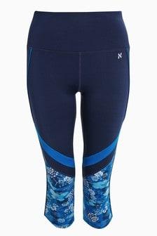 Pantalon capri bleu cobalt