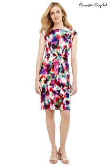 Phase Eight Multi Sabella Gathered Dress