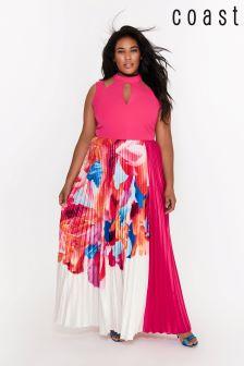Coast Curve Pink Maggie Print Maxi Dress