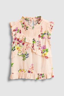 Printed Ruffle Blouse (3-16yrs)