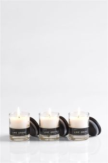 Set of 3 Lime Grove Collection Luxe Candle
