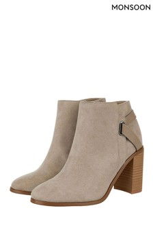 Monsoon Grey Sally Strap Boot