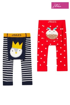 Joules Cream Lively 2 Pack Character Leggings
