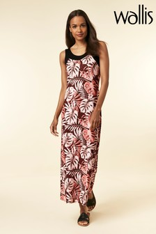 Wallis Petite Black Printed Maxi Dress