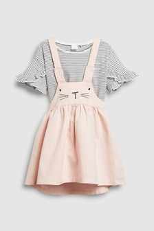 Bunny Pinafore And T-Shirt Set (3mths-6yrs)