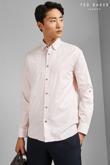 Ted Baker Pink Long Sleeve Coupe Shirt