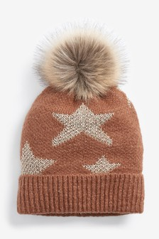 Star Sparkle Pom Hat