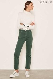 Mint Velvet Meribel Jeans, grün