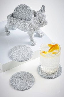 Diamanté Dog Coaster Holder