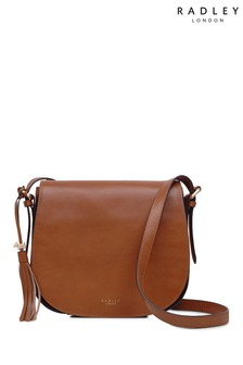 Radley London Indus Tan Painters Mews Flapover Cross Body Bag 338bfbc0ed689