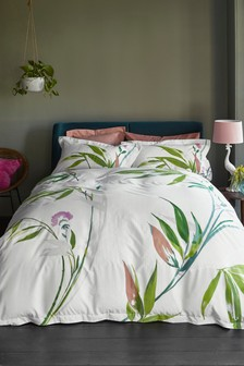 Bamboo Leaf Duvet Cover And Pillowcase Set