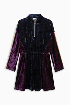 Velvet Zip Dress (3-16yrs)