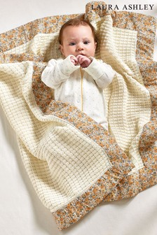 Libby Ditsy Floral 100% Cotton Knitted Blanket