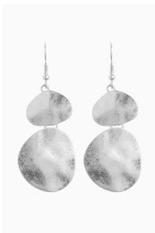 Hammered Effect Drop Earrings
