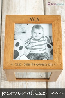 Personalised Cube Photo Frame by Loveabode