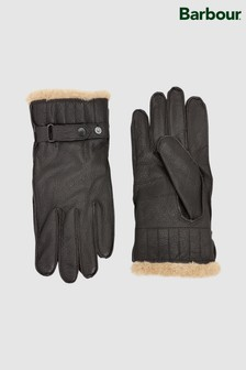 Barbour® Brown Leather Glove