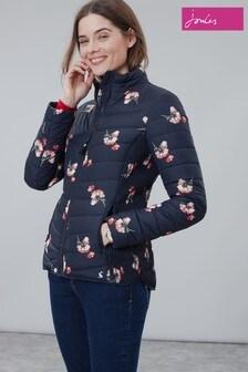 Joules Blue Harrogate Print Padded Jacket