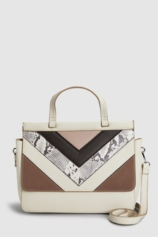 Top Handle Chevron Bag