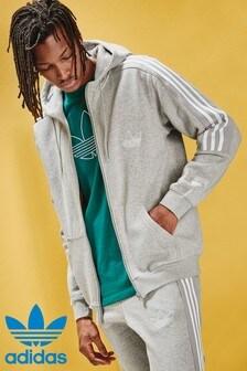 adidas Originals Grey Outline Zip Through Hoody
