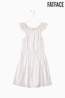 FatFace Natural Sparkle Stripe Woven Dress