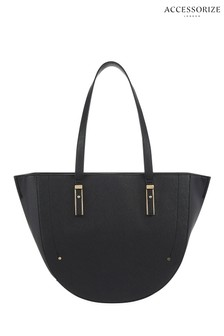 Accessorize Black Miranda Crescent Bag
