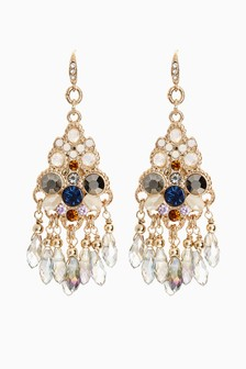 Sparkle Beaded Statement Earrings