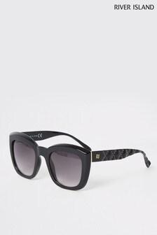 River Island Black Stud Glam Arm Sunglasses