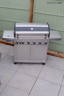 Grillstream Elite 6 Burner Hybrid With Steak Shelf Stainless Steel
