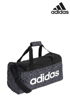 adidas Black Spot Print Linear Duffle Bag