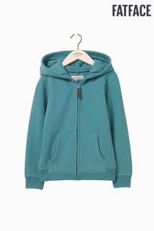 FatFace Green Bee Awesome Zip Through Hoody
