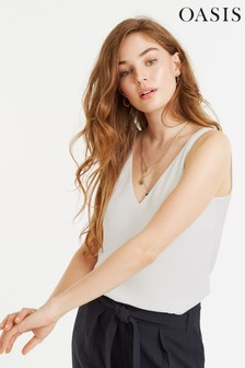 Oasis White Formal Vest Top