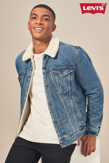 Levi's® Mid Wash Sherpa Trucker Jacket