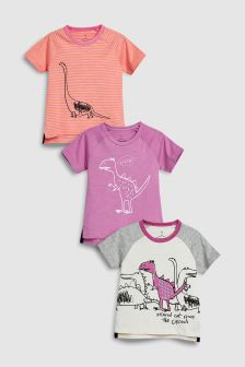 Sketch Dino T-Shirts Three Pack (3mths-6yrs)