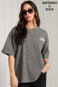 Superdry Workwear Grey Graphic Oversized T-Shirt