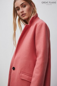Great Plains Pink Tailored Crombie Coat