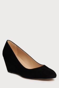 L.K.Bennett Black Julie Wedge Court Shoe