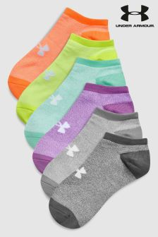 Under Armour No Show Socks Six Pack