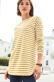 Stripe Popper Tunic