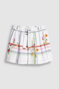Check Embroidered Skirt (3-16yrs)