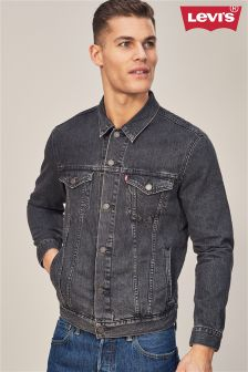 Levi's® Washed Black Trucker Denim Jacket