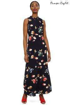 Phase Eight Navy Berdina Floral Maxi Dress