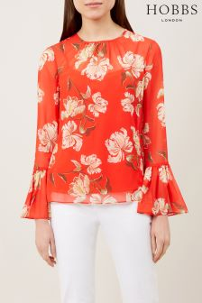 Hobbs Red Malin Blouse
